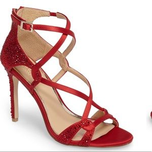 Size 8 Badgley Mischka Sassy Red Heels